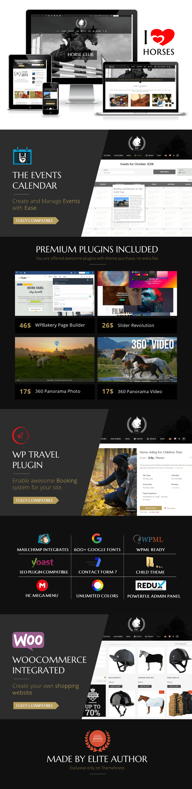 Horse Club - Equestrian WordPress Theme is made for riding stables, equestrian associations, horse riding, horse booking tour, lessons, horse school, equestrian centre, stable management,